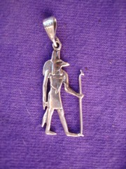 Anubis pendant in silver   from Egypt